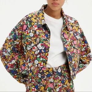 Levi's x Super Mario Cropped Dad Trucker Jacket